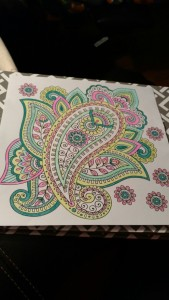 My first coloring page and I was hooked.