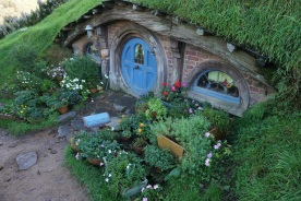 This Hobbit hole reminded me of a doll house.